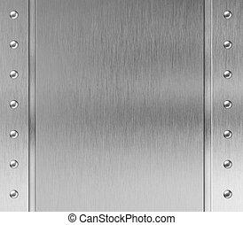 металл, рамка, with, rivets, задний план