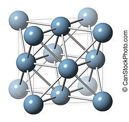 металл, (aluminum), aluminium, structure., кристалл