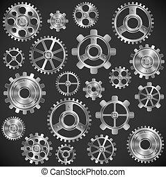 металл, gears.