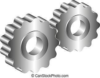 металл, gears