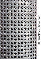 металл, holed, или, perforated, сетка, задний план