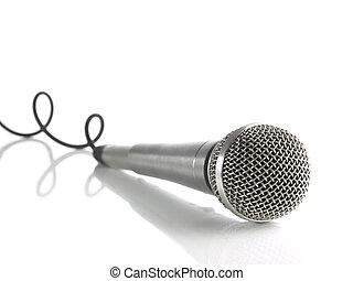 микрофон, кабель, curled
