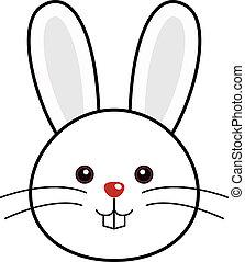 милый, вектор, кролик
