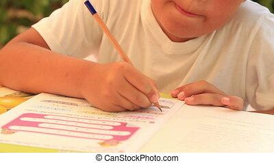 милый, домашнее задание, дитя