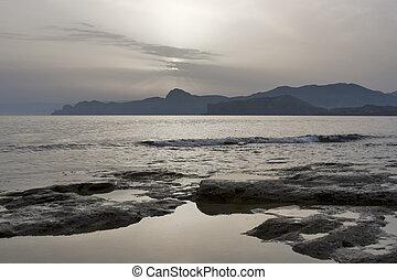 мистика, вечер, море