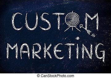 мишень, маркетинг, изготовленный на заказ, business:, ваш, определять