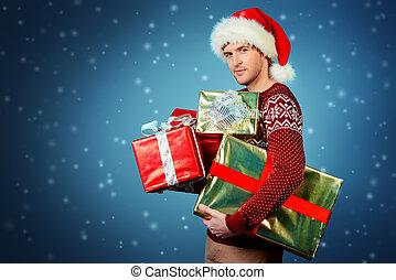 много, of, presents