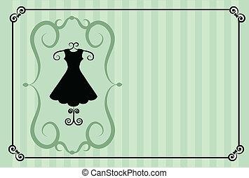 мода, shop., ретро, шаблон, дизайн
