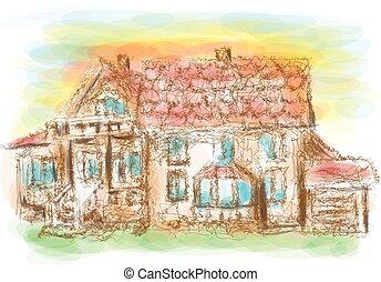 модель, дом