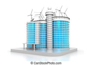 модель, 3d, здание