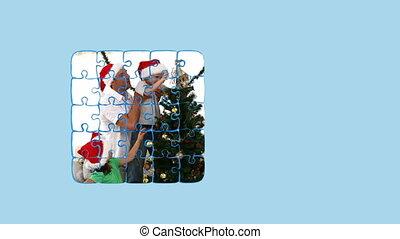 монтаж, рождество, familieson, день