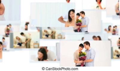 монтаж, couples, прекрасный