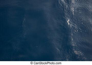 море, или, океан, синий, воды, поверхность