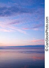 морской пейзаж, вечер