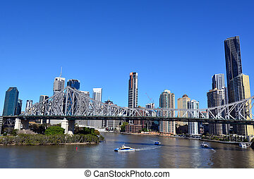 мост, история, австралия, брисбен, -, квинсленд