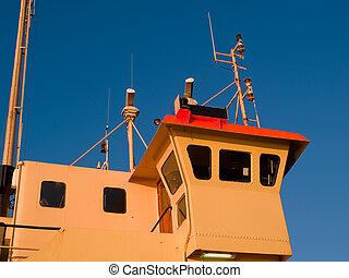 мост, коммерческая, details, паром, корабль, лодка