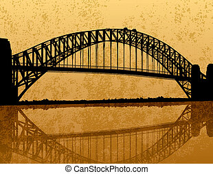 мост, сидней, harbour