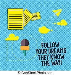 мотивация, текст, знак, следовать, ваш, облако, информация, documents, быстро, фото, концептуальный, через, получить, показ, доставка, data., знать, oни, dreams, вдохновение, успех, hosting, way., прохождение