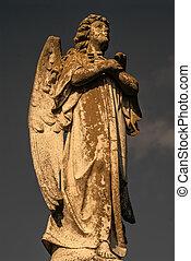 мужской, ангел, статуя