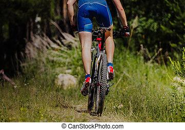 мужской, велосипедист, верховая езда, байк