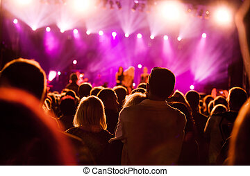 музыка, концерт, люди
