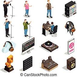 музыка, промышленность, icons, задавать