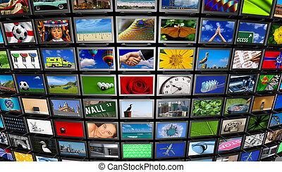 мультимедиа, стена