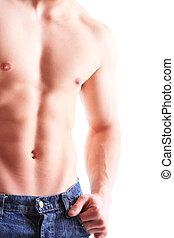 мускулистый, мужской, торс