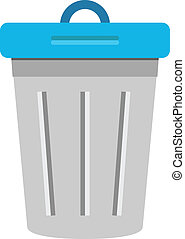мусорный ящик, вектор, значок