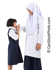 мусульманка, приветствие