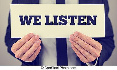 мы, слушать