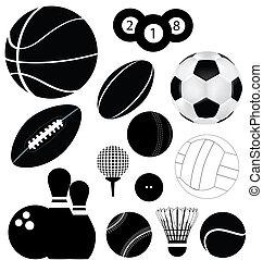 мячи, виды спорта