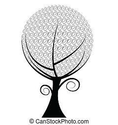 мяч, дерево