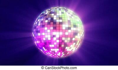 мяч, дискотека, цвет