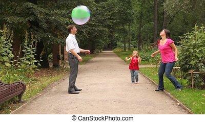мяч, игры, семья, некоторые, парк, игра