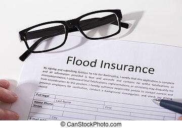 наводнение, посмотреть, возвышенный, форма, страхование