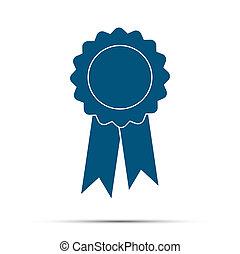 награда, значок, with, тень, на, , белый, задний план, illustration., symbols, для, ваш, веб-сайт, дизайн, логотип, ui, вектор, иллюстрация, eps10