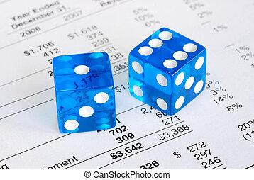 награда, concepts, риск, dices