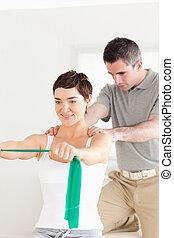 надзор, некоторые, под, пациент, exercises