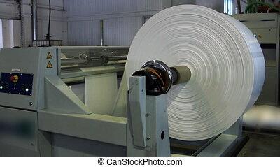 нажмите, печать, бумага, рулон