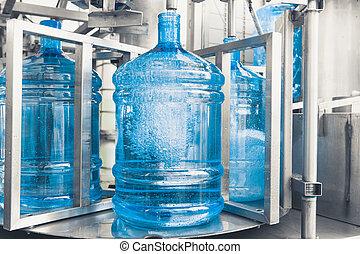 напиток, воды, производство, линия