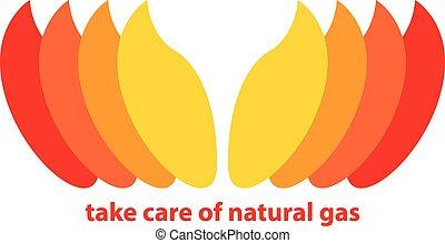 натуральный, газ, взять, забота