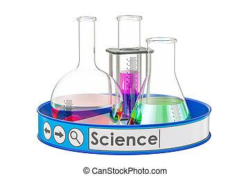 наука, концепция, 3d, оказание