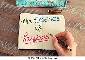наука, рукописный, счастье, текст