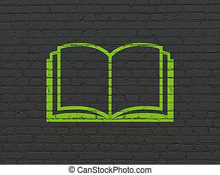 наука, concept:, книга, на, стена, задний план