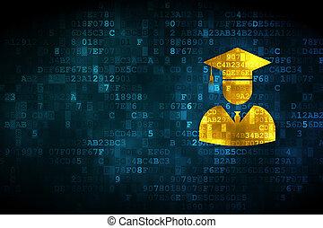 наука, concept:, студент, на, цифровой, задний план