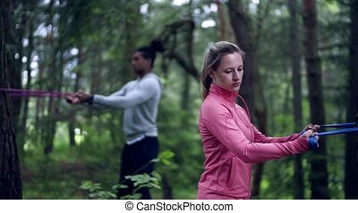 на открытом воздухе, пара, nature., дерево, bands, молодой,...