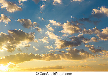 небо, облако, задний план