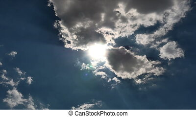 небо, упущение, clouds, 4k, время