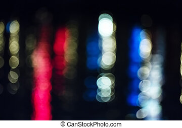 неделю, фестиваль, поверхность, воды, lights, германия, ночь, отражающий, киль